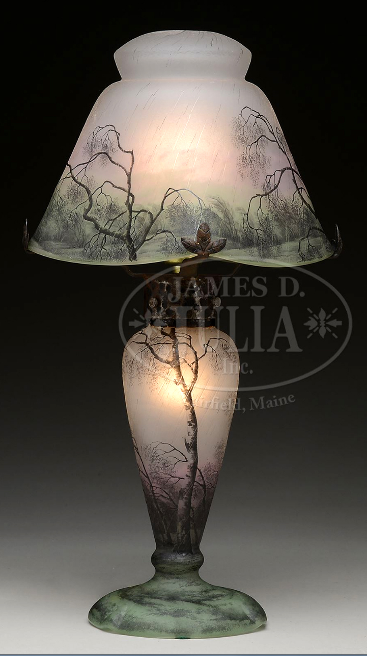 Daum Rain lamp, Julia's lot #2340