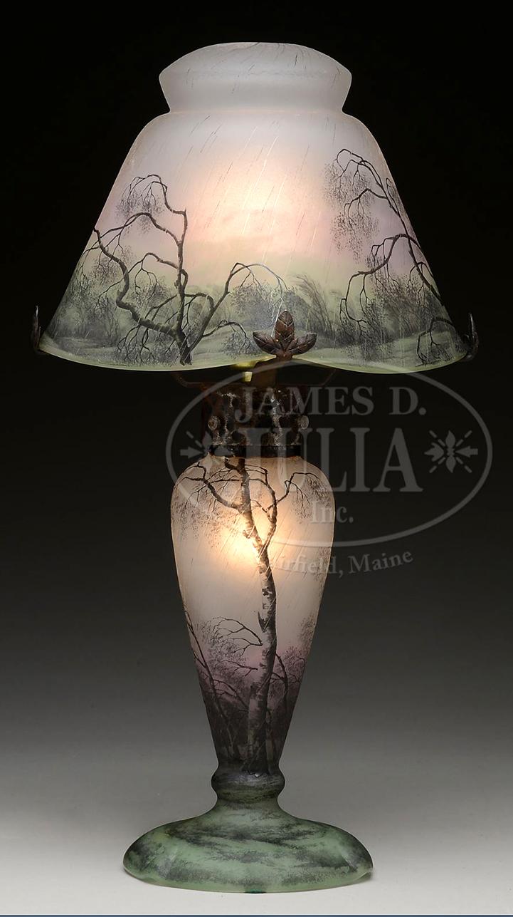 Daum Rain lamp, Julia's lot #2340