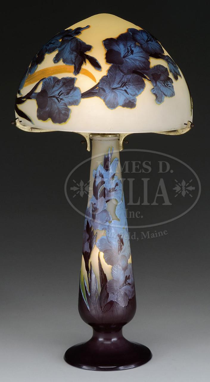 Gallé 4-color table lamp, Julia lot #2553
