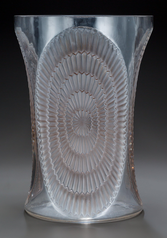 R. Lalique Los Angeles vase, Heritage lot #63277
