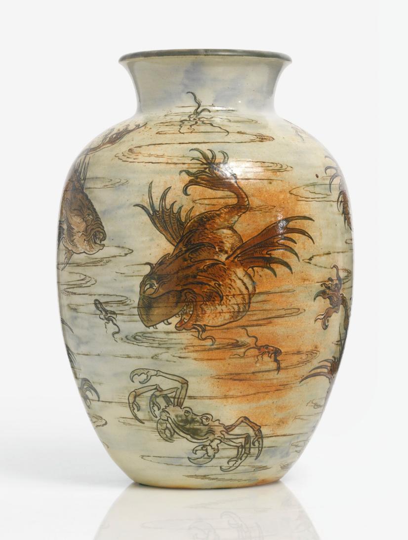 Martin Brothers aquatic vase, Sotheby's lot #44