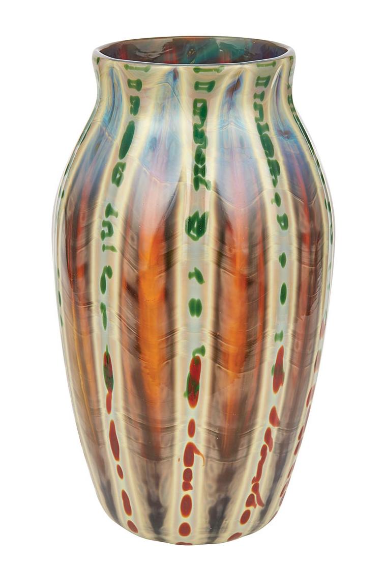 Tiffany Favrile Agate vase, Doyle lot #470