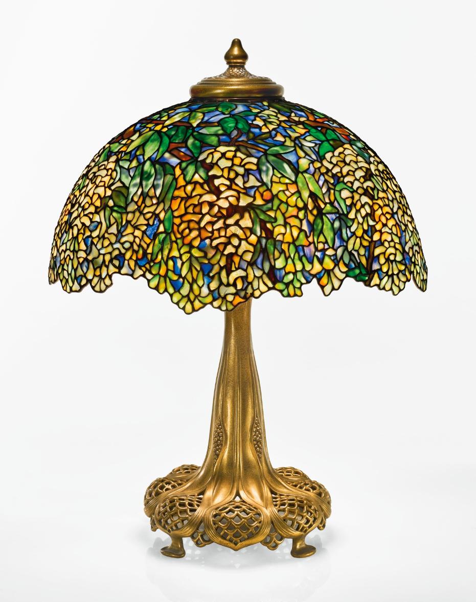 Tiffany Studios Laburnum table lamp, Sotheby's lot #35
