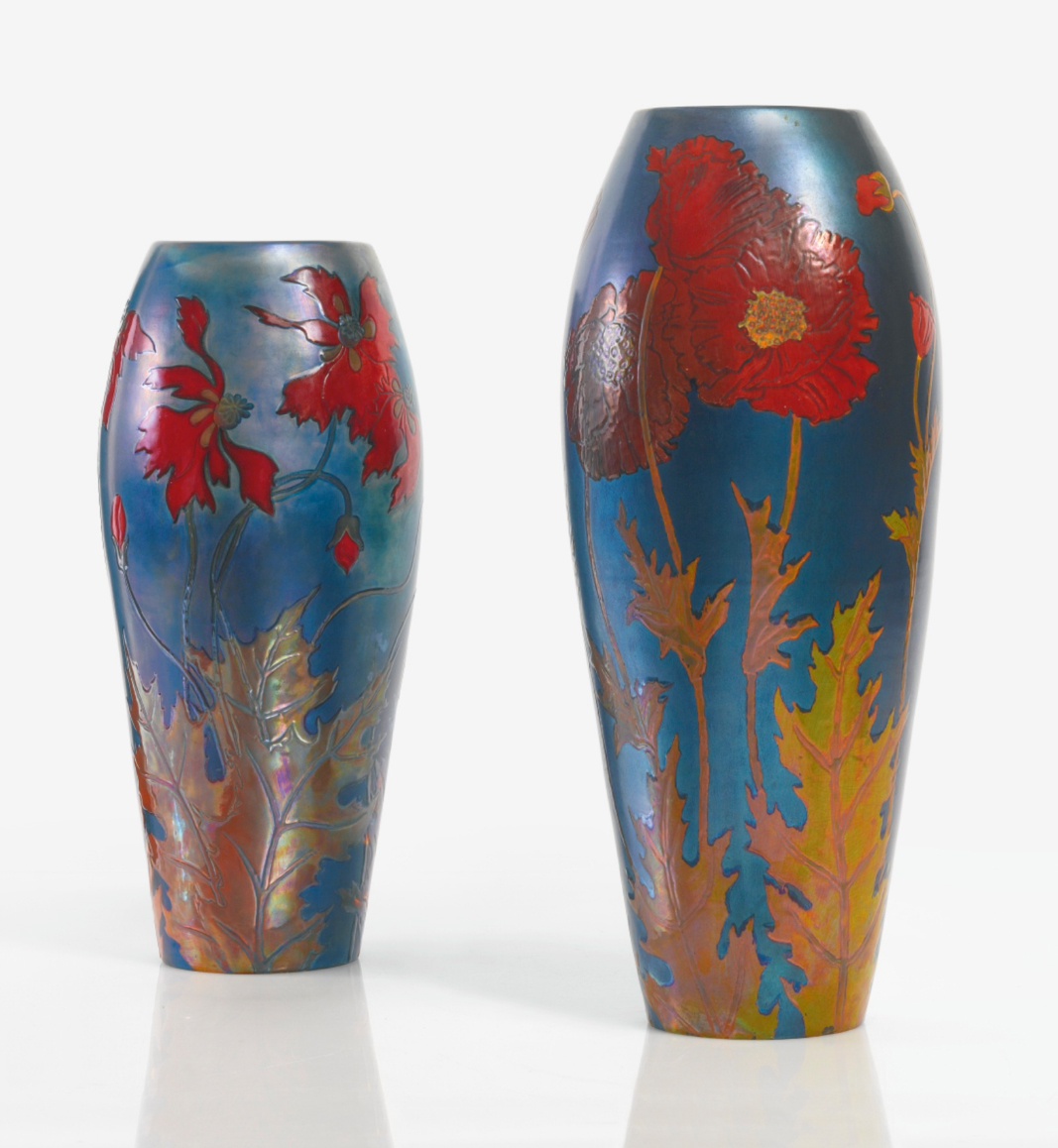 Zsolnay vases, Sotheby's lot #s 47 and 48