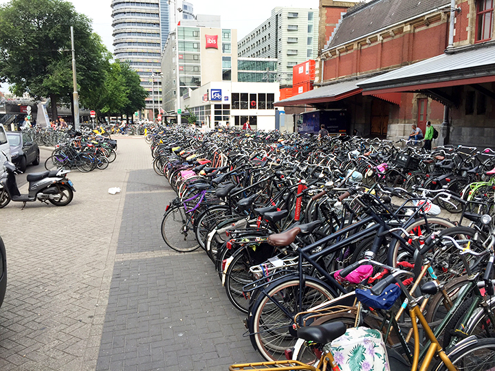 This is such a tiny fraction of the number of bicycles in Amsterdam