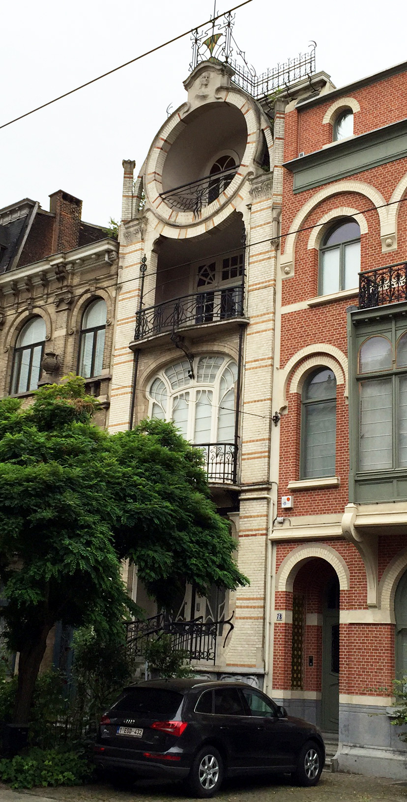 Another of the fine Art Nouveau homes on the street