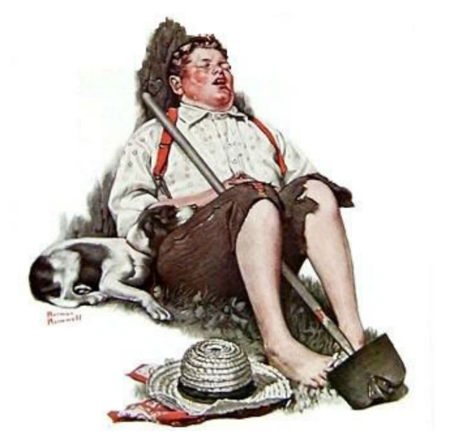 Stolen Norman Rockwell painting Taking a Break