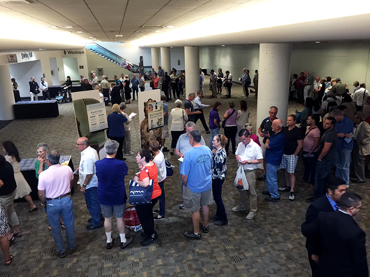 There were approximately 300 people on line at the opening on Thursday morning