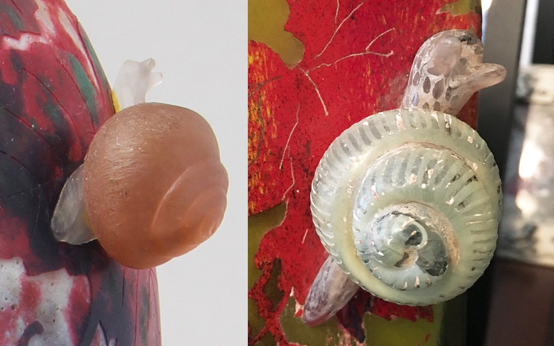 daum-fake-and-real-snail-vases-2
