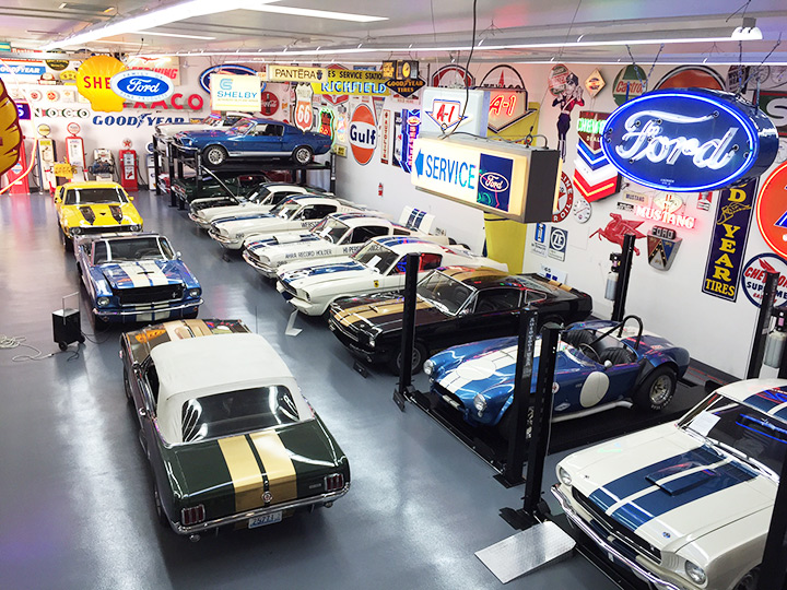 John's collection of Shelby Mustang automobiles
