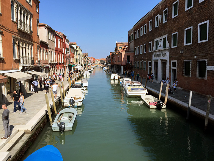 A view down one of the Murano canals
