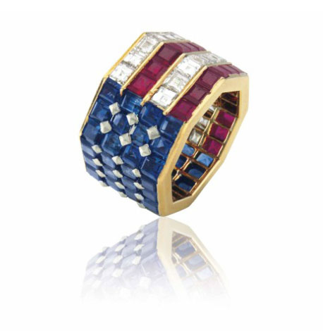 Nancy Reagan's Bulgari ring, Christie's lot #126