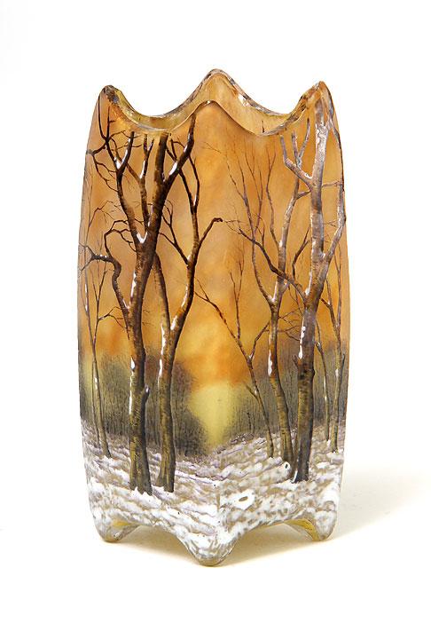 Daum Winter vase
