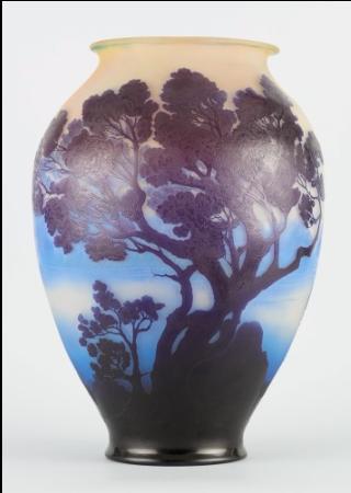 Monumental Gallé scenic vase, Horta lot #209