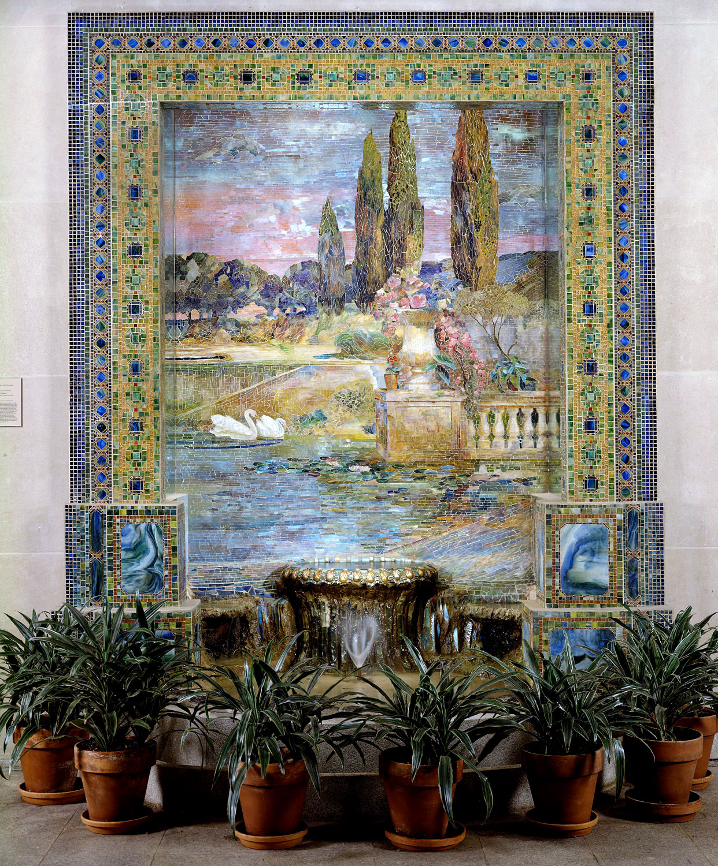 Tiffany mosaic fountain, contribution of Lillian Nassau