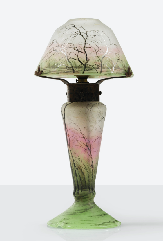 Daum Rain lamp, Sotheby's lot #249