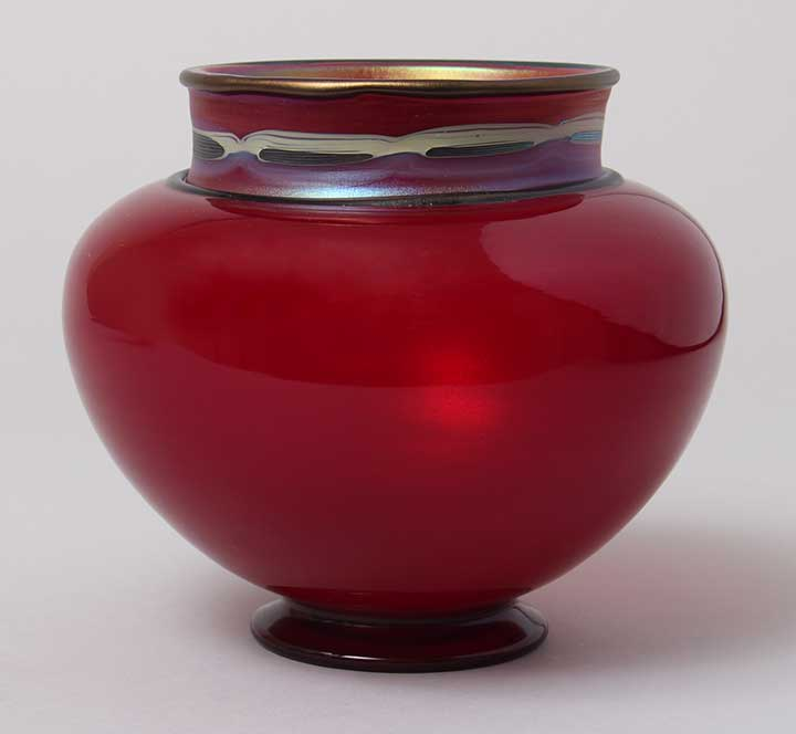 Gorgeous red Tiffany Favrile Tel el Amarna vase