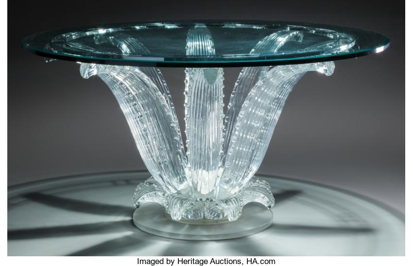 Lalique Cactus Table. Heritage Lot #63163