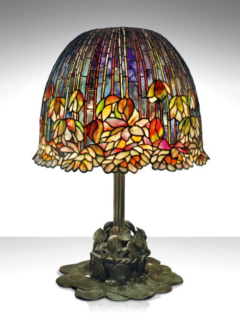 tiffany pond lily lamp christies