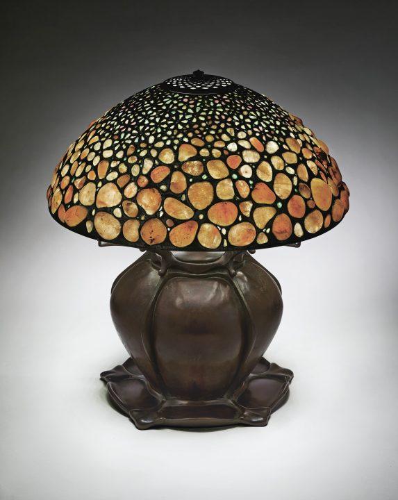 tiffany pebble lamp christies