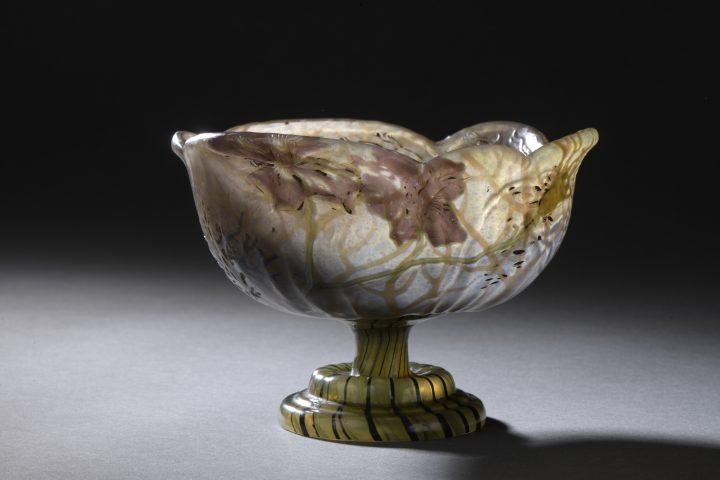 galle marquetry pedestal bowl