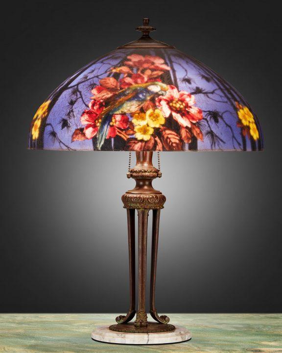 handel bird lamp moran