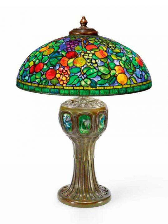 tiffany 20 fruit lamp sothebys