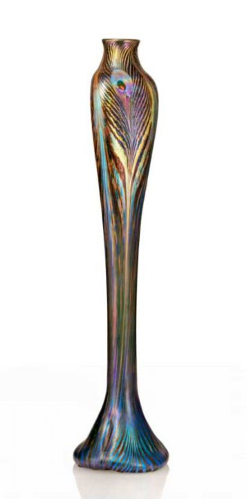 tiffany peacock vase sothebys