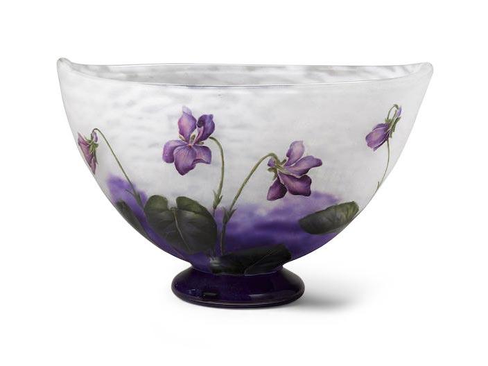daum violets bowl bonhams